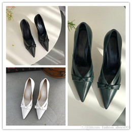 Woman High Comfortable Shoes Australia - 2019 designer brand sexy women pumps cheap luxury dress shoes pointed toe bowtie high heel comfortable with original box