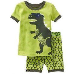 Red White Blue Tutus UK - Children's Baby Boys Girls Kids Short Sleeve T-shirt + Shorts Pajamas Suit Boy's Girl Sleepwear Homewear Pyjamas Sets