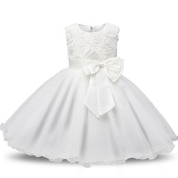 $enCountryForm.capitalKeyWord Australia - Girls Toddlers Sleeveless O-neck Rose Dress Bow Princess Dress Baby Children Kids Bridesmaid TUTU Dress(90cm,pink)