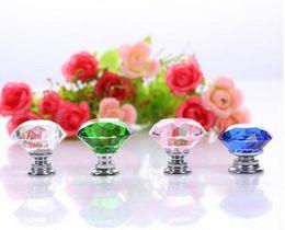 $enCountryForm.capitalKeyWord Australia - Fashion Hot Clear Crystal Knob Cabinet Pull Handle Drawer Kitchen Door Wardrobe Hardware