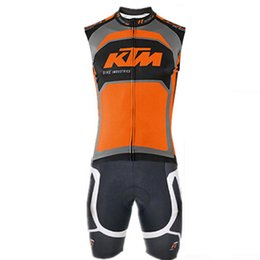 SleeveleSS cycle jerSeyS online shopping - Men Pro KTM team triathlon suit sleeveless Cycling Clothing Skinsuit jumpsuit Maillot Cycling Jersey Ropa Ciclismo Sportswear