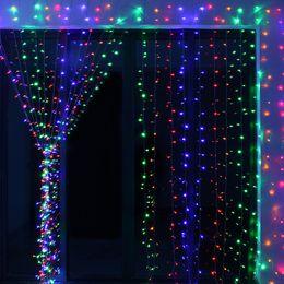 $enCountryForm.capitalKeyWord Australia - 6M * 3M 600 Led Curtain Light Strings Waterproof Xmas Wedding Party Festival Background Decoration Flash Fairy String Light Lamp 110V 220V