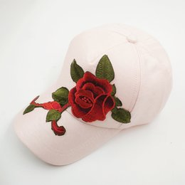 $enCountryForm.capitalKeyWord Australia - Designer Baseball Cap with big Rose Embroidery Cool Snapback Hat most popular snapbacks Designer snapback caps Adjustable snapback hat store