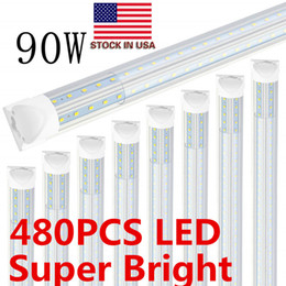 $enCountryForm.capitalKeyWord NZ - Cooler Door T8 Integrated Led Tube 8FT 2400MM 90W LED Shop Light Fixture V Shaped Double Sides LED Fluorescent Bulbs Lamp