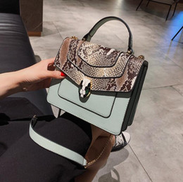 factory outlet handbags Australia - Factory Outlet Brand Women Bag Personality Snakehead Lock Handbag Fashion Snakehead Leather Chain bag Sweet Cute Leather Messenger Bag