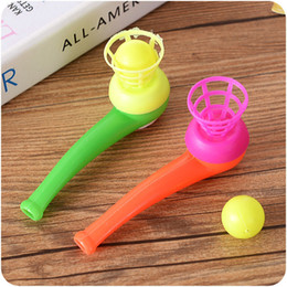 $enCountryForm.capitalKeyWord Australia - Magic floating Ball Game Kids Gift Toys Kids Party Favor Blow Pipe Balls Pinata Toy Party Loot Bag Fillers Birthday Party Game