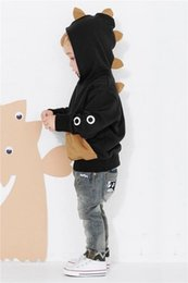 Wholesale Toddler Baby Boys Long Sleeves Dinosaur Hoodie Tops T shirt Kids Clothes Hooded Sweatshirts New Autumn Winter Cute Kids Clothes Outfits Tops