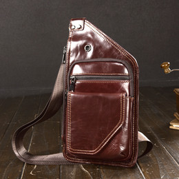 $enCountryForm.capitalKeyWord Australia - Vintage Famous Brand Men Chest Bag Pack Messenger Bag Male Shoulder Cow Leather Crossbody Male purse mobile phone pocket