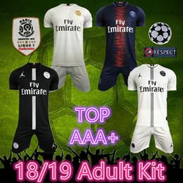 Venta al por mayor de camiseta de fútbol de calidad superior 2019 Jordam psg psg jersey de fútbol 2018 MBAPPE CAVANI Paris Saint Germain 18 19 Liga de Campeones camisetas de fútbol psg