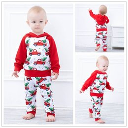 cartoon tracksuits NZ - Ins baby tracksuit cute cartoon infant tracksuit baby boys suits long sleeve hoodie+PP pants 2pcs set baby clothes A10132