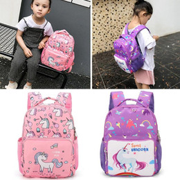 canvas horse backpacks UK - 3D Cartoon Pony Backpacks Children School Backpack Kindergarten Boys Girls School Bags Little Horse Schoolbag