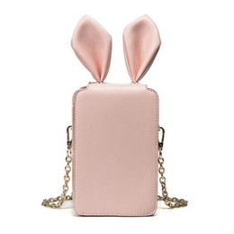 Cute Phone Chains Australia - 2019 Summer New Handbags High Quality Pu Leather Women Bag Rabbit Ear Phone Bag Sweet Ladies Cartoon Cute Chain Shoulder Bag
