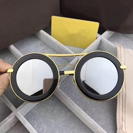 Lens Plate Australia - Luxury-Z0907 Men Women Sunglasses Fashion Round Sunglasses UV Protection Lens Coating Mirror Lens Frameless Color Plated Frame Come With Box