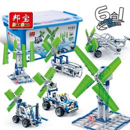 Blocks Plane Australia - BanBao compatible legoed technic Science Series wind energy building blocks children kid toys gear windmill plane sets car plane
