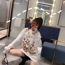 Dancing sweaters online shopping - Women Hooded INS head Sweatshirt Cool student colorful printing Sexy letter embroidery fashion brand Hip hop Street dance Sports sweater