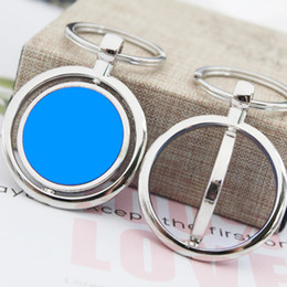 $enCountryForm.capitalKeyWord NZ - 50pc blank swivel key chain key tag for DIY laser engraving customization for personalized gift two colors blue and black