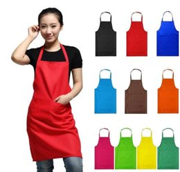 Ingrosso NEW HOT Fashion Lady Women Grembiule Casa Casa Cucina Chef Macelleria Ristorante Cottura vestito da forno personalizzato