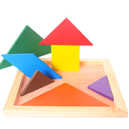 power blocks UK - Benefit intelligence building block tangram early education has the will-power puzzle board toy improve hand-on ability For 1-6 years