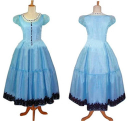 Wholesale alice wonderland movie for sale – custom Cosplay Costume Alice In Wonderland Alice Blue Dress Gown