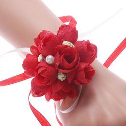 $enCountryForm.capitalKeyWord Australia - New Arrival Wedding Party Wrist Pearl Corsage Bracelet Bridal Bridesmaid Hand Wrist Flowers Wedding Bracelet Jewelry