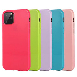 10 x max iphone Australia - 2MM Candy Color Jelly Glossy Soft TPU Case Cover For iPhone 11 Pro Max XR XS X 8 7 6 Plus Samsung S10 S10e Note 10 10+ A10 A20 A30 A50 A70