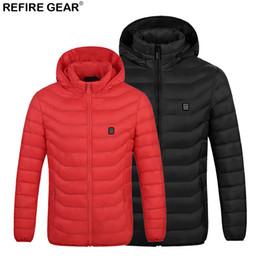 $enCountryForm.capitalKeyWord NZ - Refire Gear Mens Outdoor USB Heating Jacket Waterproof Outdoor Thermal Warm Heated Coat Camping Trekking Hiking Clothing Male