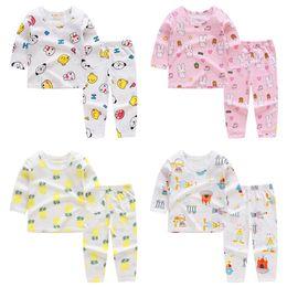 $enCountryForm.capitalKeyWord Australia - Baby Summer Autumn Long Sleeve Set Cartoon Animal Pattern Clothing Costumes Newborn Breathable T-shirt Pant Suit Infant Pajamas