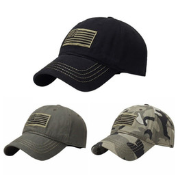 Discount black hat training - Flag Print Baseball Cap Hat Patch Trucker Tactical hunting Army Training Sport Hat
