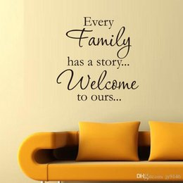 $enCountryForm.capitalKeyWord Australia - EVERY FAMILY HAS A STORY Wall Stickers Quotes Vinyl Removable Family Wall Decals for Living Room DIY Family Love Wall Art