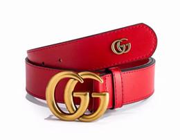 Golden Letter Belt UK - 2019 latest men's and women's brands double letter gold buckle belt free delivery
