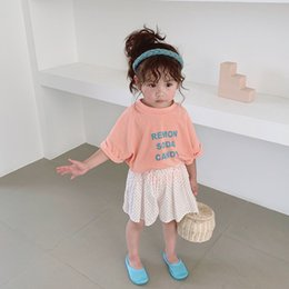 Cute Baby Tees Australia - Summer Cute Girls Cotton Letters Printed T Shirts Baby Boys Soft Short Sleeve Candy Color Tees Clothes Y19051003