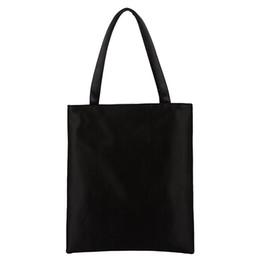 $enCountryForm.capitalKeyWord Australia - Cheap Fashion Plain Black White Women's Shoulder Bag High Quality Portable Blank Handbag Hot sale Leisure School Bag Shopping Bags