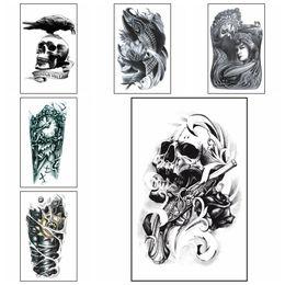 Large Arm Temporary Tattoo Fashion Style Body Art Removable Waterproof Tattoo Art Sticker HHA250 on Sale