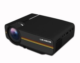 Usb Displays Australia - New Mini Projector 4k digital Wired Sync Display YG400 More stable than WIFI Beamer For Home Theatre Movie AC3 HDMI VGA USB 1pcs DHL