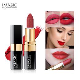 $enCountryForm.capitalKeyWord Australia - IMAGIC Brand 12 Color Professional Lip Makeup Makeup Lasting Pigment Nude Pink Mermaid Shimmer Lipstick Luxury Matte Lipstick Makeup