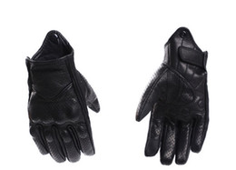 Gloves Leather Fingers Off Australia - New leather male racing off-road gloves knight gloves motorcycle full-finger gloves cycling anti-fall gloves waterproof 2 models