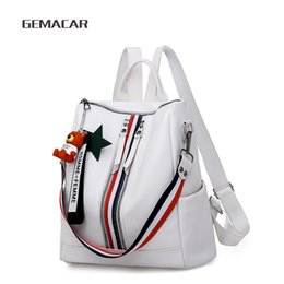 satchel backpack crossbody Australia - Women Backpack Pu Leather Fashion Travel Casual Detachable Crossbody Purse Cute Ladies Shoulder Satchel Bag Young Rucksacks j190525