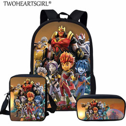 cream school NZ - Twoheartsgirl Kid School Bags Boys Game Gormiti Schoolbags Primary Student Large Capacity Backpack Sets Girls Boys Satchel