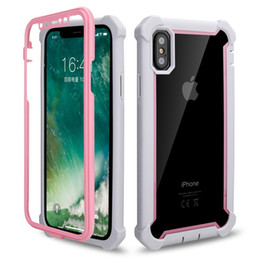 Phone clear full case online shopping - Clear Hybrid Defender Case for iPhone XR XS MAX Plus TPU Bumper Protector Back Cover Full Body Shockproof Phone Cases
