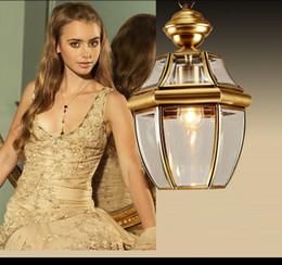 $enCountryForm.capitalKeyWord Australia - Europe Retro Lustre Copper Led Pendant Chandelier Lamp Glass Corridor Led Chandeliers Lighting Luminarias Hanging Lights Fixture