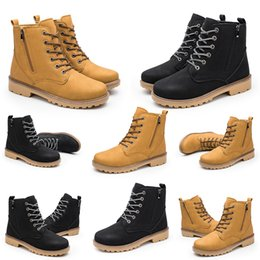 Discount fashion shoes men classic Classic Casual Leather Half Flat Men Women Martin Boots Fashion Colour Black Yellow Non Brand Hotsale Shoes Size 39-46