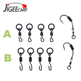 tackle swivels Australia - Tackle Boxes JIGEECARP 10 25pcs Carp Fishing Spinner Swivel for Ronnie Rig Quick Change Swivel Connector Carp Coarse Fishing Terminal Tac...