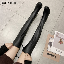 over knee snow boots Australia - women Casual Over-the-Knee boots women mid heels pumps Party dress winter warm Thigh High snow Boots Mujer plus size 35-40 T127