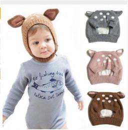 3c208d78fd6 Cute Deer Ears Baby Girl Hat Knit Soft Baby Bonnet Warm Winter Hats Beanie  Cap Baby Boys Girls Newborn Photography D25