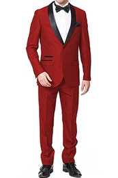 $enCountryForm.capitalKeyWord NZ - Cheap And Fine Shawl Lapel Groomsmen One Button Groom Tuxedos Men Suits Wedding Prom Dinner Best Man Blazer(Jacket+Pants+Tie) M10