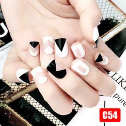 best nail art set 2019 - Best Hot Sale 24Pcs Set Fake Nails Tips Square Type Wedding Brides Nail Art Tips Decor ---MS cheap best nail art set