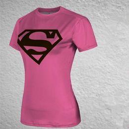 $enCountryForm.capitalKeyWord Australia - Free shipping 2017 new women steel beast compression shirt superman batman train t shirt fit tight shirts t-shirt