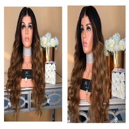 $enCountryForm.capitalKeyWord Australia - African female wig, long curly hair, big wave, black gradient, light brown fiber dyeing, comfortable to wear.TKWIG