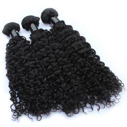 Venta al por mayor de Cabello rizado del pelo peruano del pelo crudo negro natural sedoso vendedor caliente del precio de fábrica
