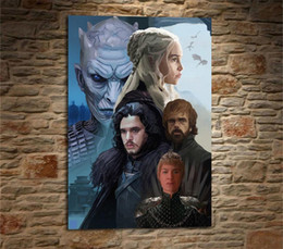 spray painting games Australia - Game of Thrones Emilia Clarke Peter Dinklage,1 Pieces Home Decor HD Printed Modern Art Painting on Canvas (Unframed Framed)